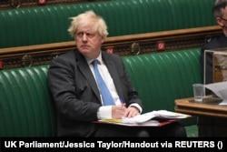 British Prime Minister Boris Johnson takes questions in Parliament, in London, Britain June 23, 2021.