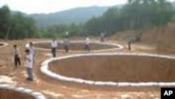 중국 희토류 채굴현장(자료사진)