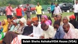 Manifestação em Abuja, a 28 de Maio, 2014