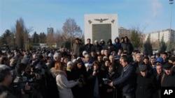 ہلاکتوں پر کرد افراد کا مظاہرہ