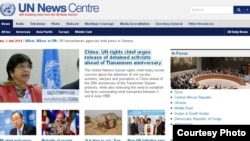 联合国网站截屏(2014年6月3日)