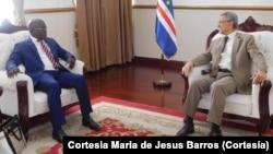 Florentino Mendes Pereira recebido pelo Presidente de Cabo Verde