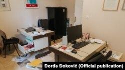 Kancelarije nezavisnih internet novina Kolubarskog okruga posle provale (Foto: Đorđe Đoković)