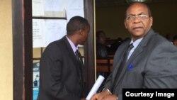 Jean Baptiste Mugimba (iburyo) na Jean Claude Iyamuremye