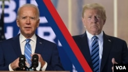 Umongameli Donald Trump loMnu. Joe Biden