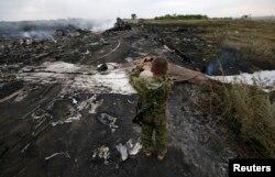 """Обломки """"Боинга"""", упавшего на территории восточной Украины"""