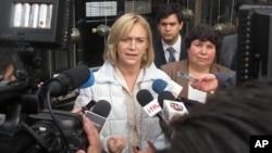 Evelyn Matthei fue nominada como candidata presidencial por la conservadora Unión Demócrata Independiente.
