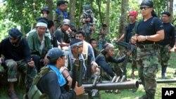 필리핀 무장단체 아부사야프 단원들. (자료사진)