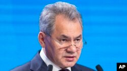 FILE - Russian Defense Minister Sergei Shoigu.