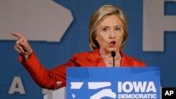Ứng cử viên tổng thống của đảng Dân chủ Hillary Rodham Clinton