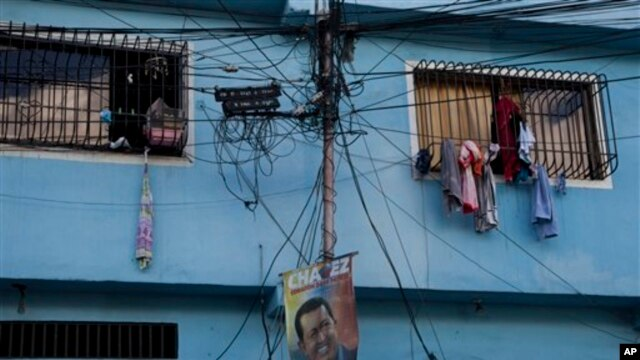 An electric pole in Caracas, Venezuela (2013 photo)