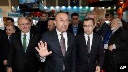 مولود چاووش اوغلو وزیر خارجه ترکیه در آلمان.