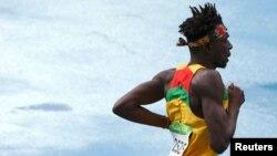 Le Ghanéen Alex Amankwah participe aux 800 mètres hommes lors des JO de Rio de Janeiro, Brésil, le 12 août 2016.