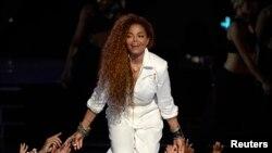 Janet Jackson aux 2015 BET Awards. Los Angeles, California, Juin 2015.