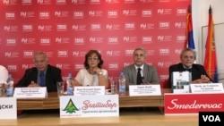 """Učesnici završne konferencije projekta """"EU, Srbija i Zapadni Balkan"""""""