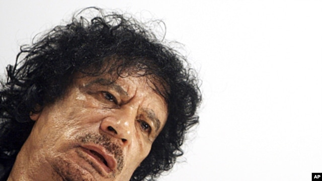Libyan leader Col. Moammar Gadhafi (file photo)