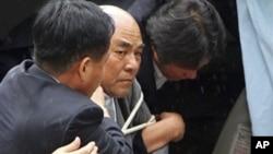 지난 5일 판문점에서 한국 공안에 체포된 노수희 범민련 부의장.