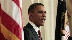 پرزیدنت اوباما هنگام اعلام خبر کشته شدن اسامه بن لادن رهبر القاعده توسط آمریکا و « اجرای عدالت در باره وی»