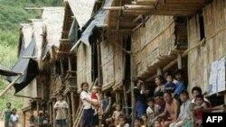 (Hình tư liệu) Một làng của người sắc tộc thiểu số Karen ở Miến Ðiện