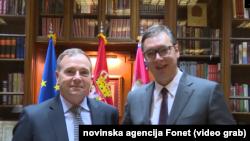 Bivši komandant Kopnene vojske SAD za Evropu Ben Hodžis i predsednik Srbije Aleksandar Vučić