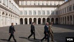 El vicepresidente estadounidense Joe Biden se reunió con el presidente italiano, Giorgio Napolitano.