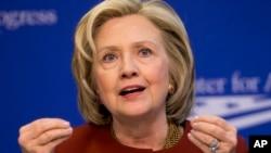 Hillary Rodham Clinton pada sebuah acara 23 Maret 2015.