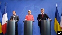 رهبران فرانسه، آلمان و رئیس جمهوری اوکراین