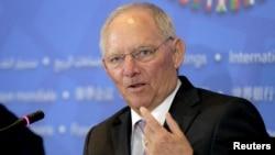 Menteri Keungan Jerman Wolfgang Schaeuble.