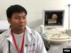 Sot Sam Aun, 30, a doctor in at Samaki Roumdoul Referral Hospital in Svay Rieng province, Oct. 12, 2019. (Khan Sokummono/VOA Khmer)