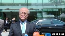 4일 빈에서 인터뷰에 응하고 있는 아마노 유키아 IAEA 사무총장