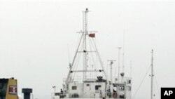 무기 이송에 이용되는 북한 선박 (자료사진)