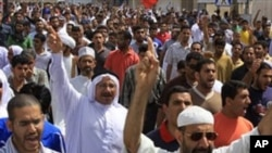 巴林抗議者要求民主改革。