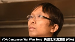 香港新民主同盟區議員譚凱邦 (攝影﹕美國之音湯惠芸)