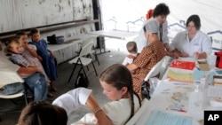 Vacunación contra el sarampión en una clínica de Shiloh, Ohio. Foto de archivo.