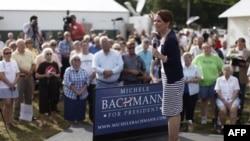 Dân biểu Michele Bachmann, ứng cử viên tổng thống vận động tại Humboldt, Iowa