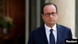 FILE - French President Francois Hollande.