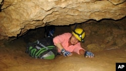 FILE - Penelope Boston, a New Mexico Tech professor in July 2008, discovered extreme life in New Mexico caves. Friday, she presented new findings of microbes trapped in crystals in Mexico that could be 50,000 years old.