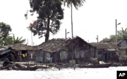In the Niger Delta region, multi-billion dollar oil installations sit among villages of shacks perched on stilts over viscous, blackened water.