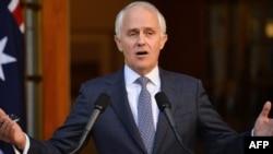 FILE - Perdana Menteri Malcolm Turnbull menjawab pertanyaan pers di Canberra, 20 September 2015. (Foto: dok.)