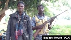Des miliciens anti-Balaka à Gbaguili, en République Centrafricaine, 1er 2014, Photo Bagassi Koura.