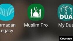 Beberapa apps muslim yang digemari di AS. (Foto: screengrab)