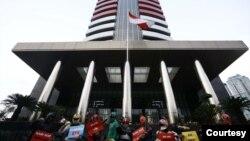 Aksi unjuk rasa masyarakat di depan Gedung KPK di Jakarta. (Foto: KPK/ilustrasi)