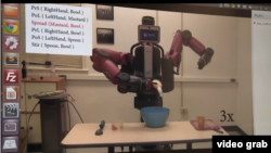 University of Maryland professor Yiannis Aloimonos, who leads a team that is trying to teach a robot how to reproduce simple tasks by watching videos