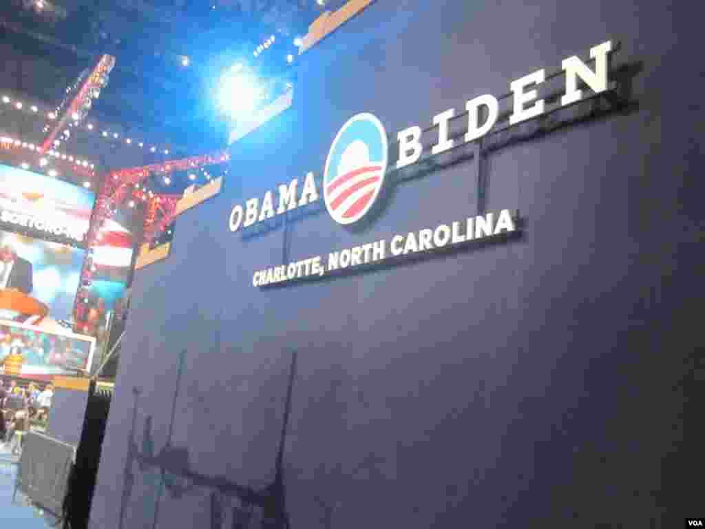 Barack Obama et son Vice-President Joe Biden accepteront officiellement la nomination de leur parti pour un second mandat à la Maison Blanche. (N. Pinault/VOA)