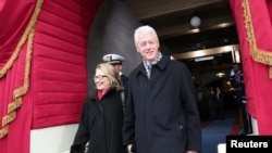The ultimate power couple. Former U.S. President Bill Clinton and former Secretary of State Hillary Clinton in Washington, D.C.