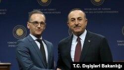 Almanya Dışişleri Bakanı Heiko Maas ve Türk Dışişleri Bakanı Mevlüt Çavuşoğlu