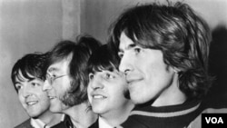 The Beatles: Paul McCartney, John Lennon, Ringo Starr y George Harrison.