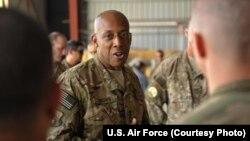 미 공군 중부사령관인 찰스 브라운 중장. (자료사진)