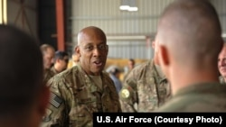 FILE - Lieutenant General Charles Brown, commander, U.S. Air Forces Central Command, Southwest Asia.