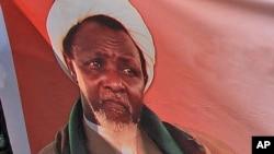 Une effigie d'Ibrahim Zakzaky, chef du groupe chiite Mouvement islamique du Nigeria (IMN), 15 décembre 2015.